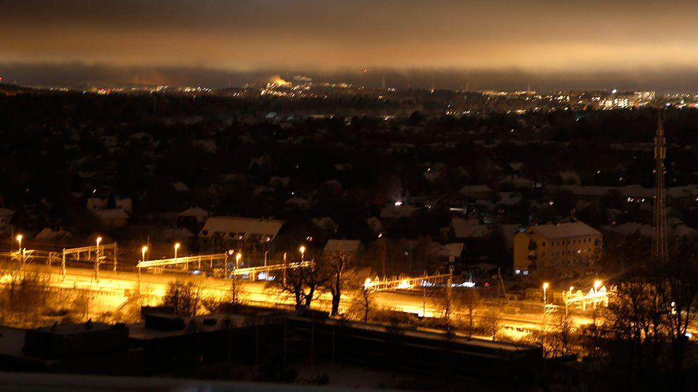 Strömavbrott i Stockholm i december 2012.