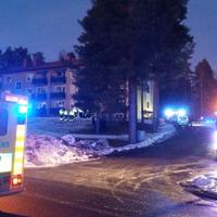Larm om brand i lägenhet i Falun