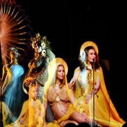 Beyoncé framträdde som madonnan