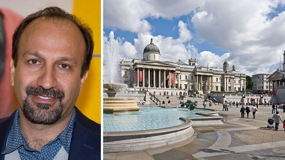 Asghar Farhadi och Trafalgar Square