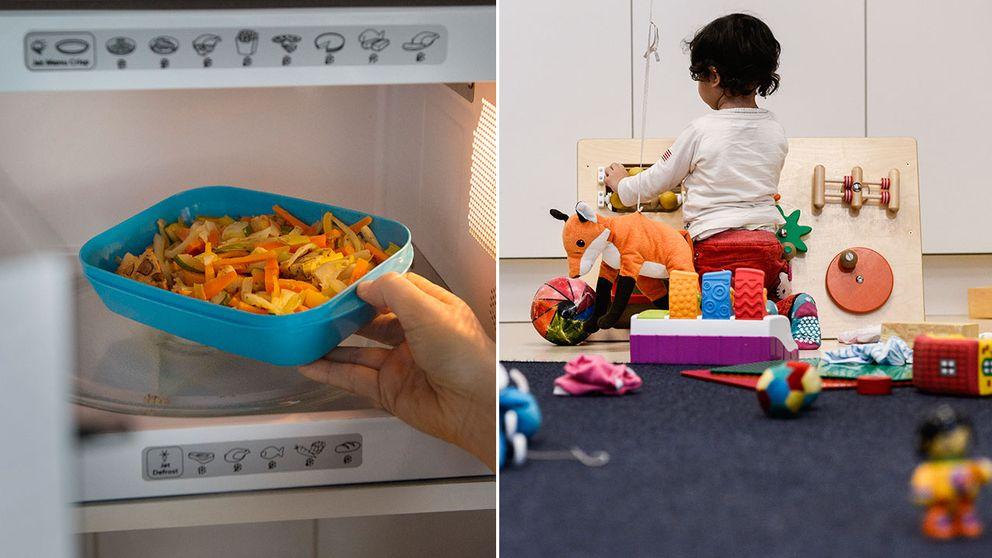 Matlådor i plast och barnleksaker i plast är något som oroade många som chattade med plastexperten.
