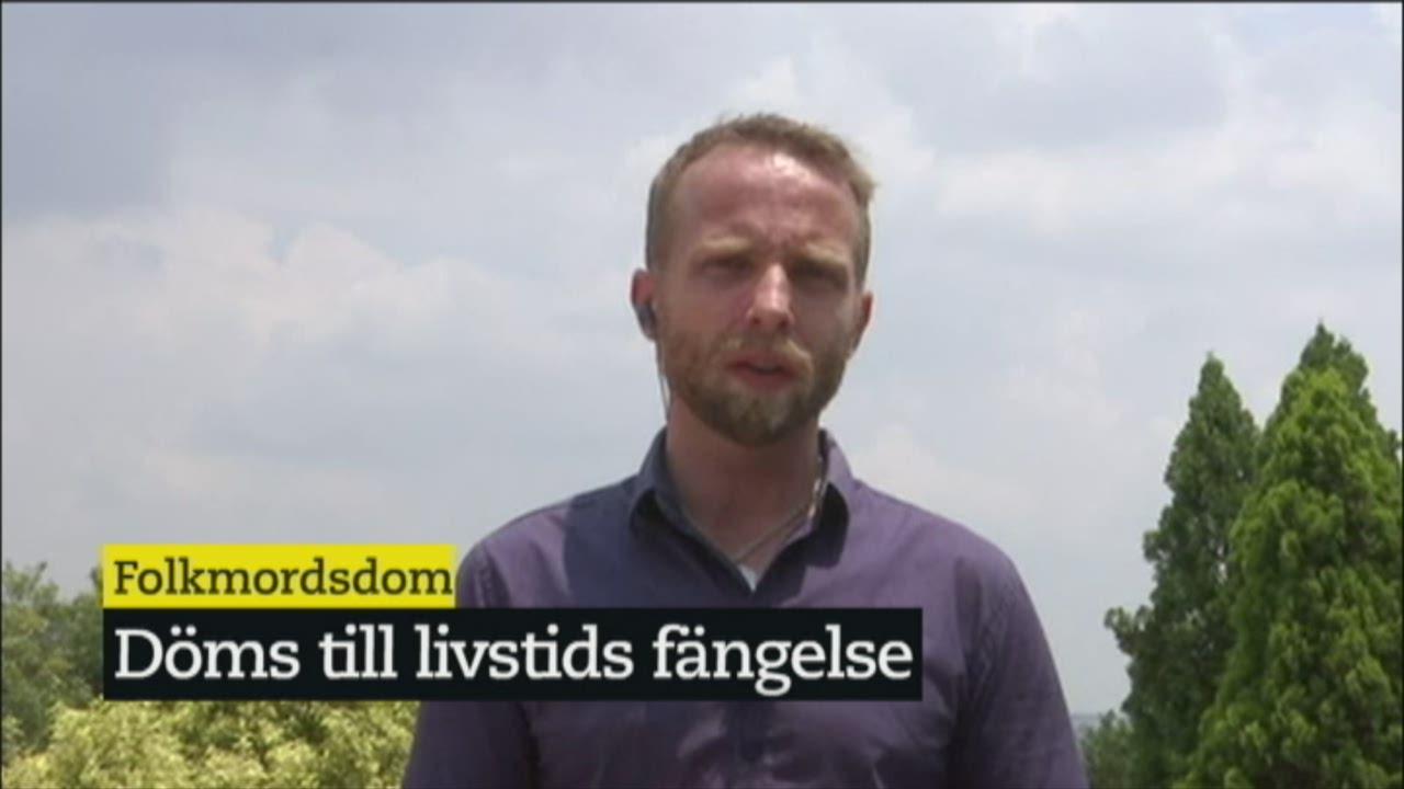 Man haktad for folkmord i rwanda