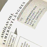 Papper om anmälan till sameröstlängd