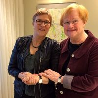 Eija Sarinko intervjuar Tarja Halonen