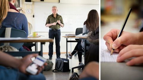 I en undersökning uppger nio procent av lärarna att det förekommit fusk vid de nationella proven på deras skola.