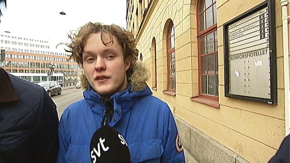 Andreas Backström är elev på Realgymnasiet i Norrköping.