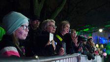 Publik vid röda mattan i Växjö