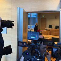 Bild från rättsalen