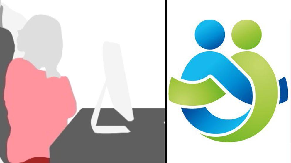 Illustration föreställande en gråtande kvinna och Region Örebro läns logotyp.