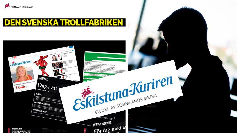 Eskilstuna-Kuriren synade svenska nättroll