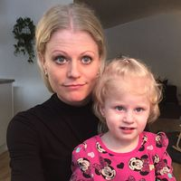 Pernilla Ehrendahl med dottern Ellie