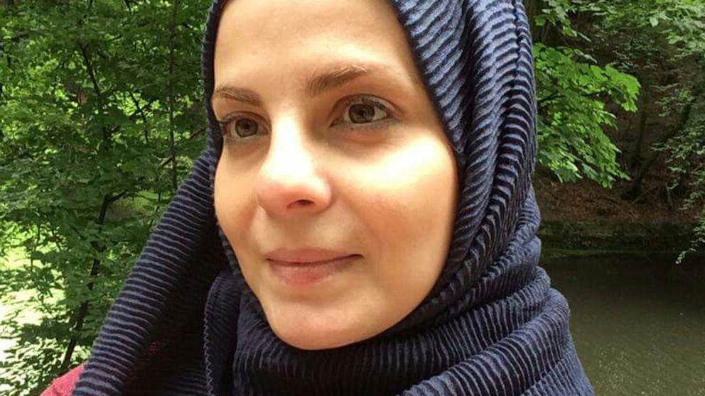 Nour Mallh, syrisk journalist som bor i Borås efter flykten från Syrien.