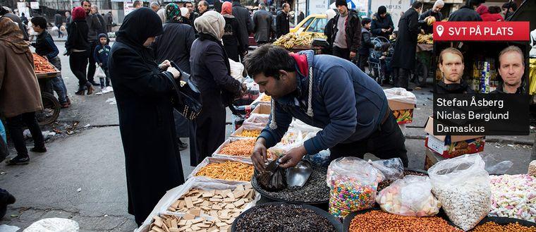 SVT:s team på plats i Damaskus