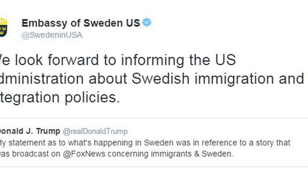 Svenska ambassadens svar i natt.