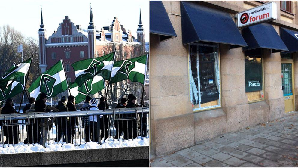 Personer kopplade till Nordiska motståndsrörelsen misstänks för bomben mot Syndikalistiskt forum i Göteborg.