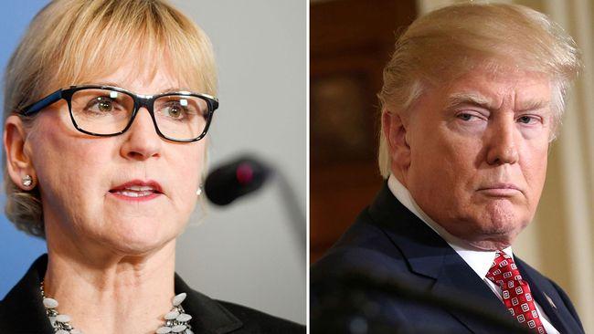Margot Wallström kommenterar Trumps Sverigeutspel