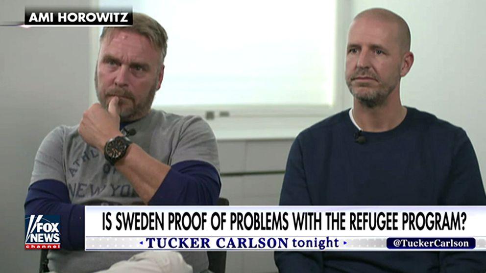 De två polismännen som intervjuas i inslaget på Fox News.