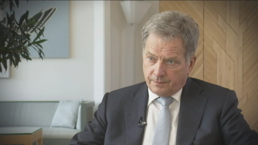 Finlands president Sauli Niinistö