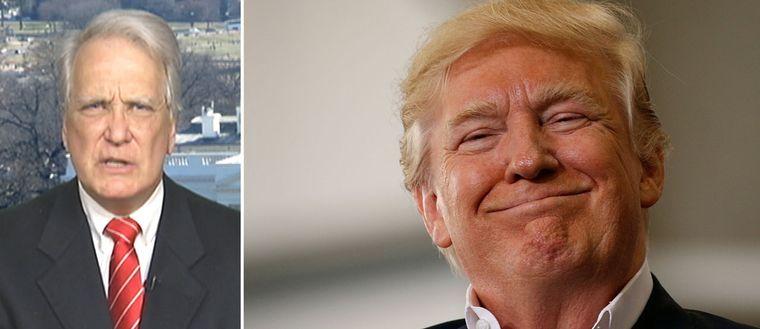 PR-konsulten Jerry Cave och Donald Trump.