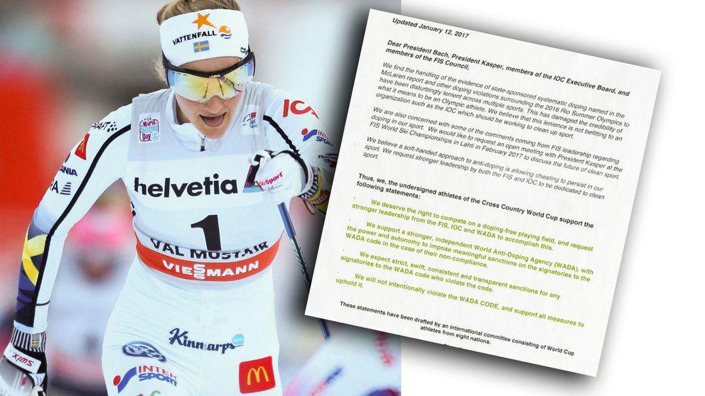 Stina Nilsson är en av de som skrivit under det dopinguppror, där åkarna nu meddelar att de fått nog.