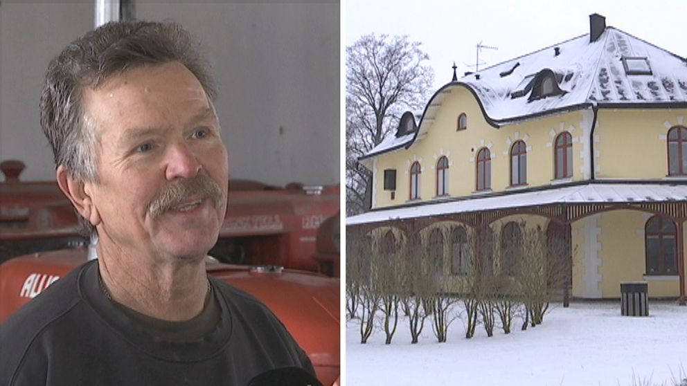 Sven Malmborg restaurerade den gamla macken och tågstationen har blivit bibliotek.