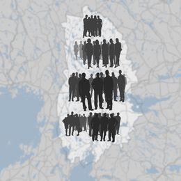 Karta med massa folk
