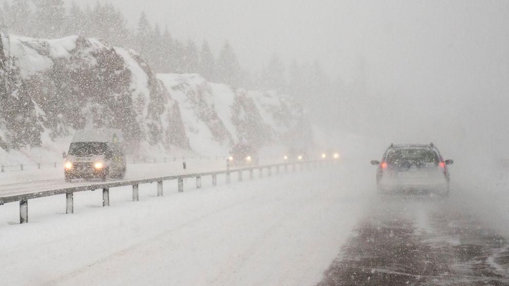 Snöoväder i Sundsvall