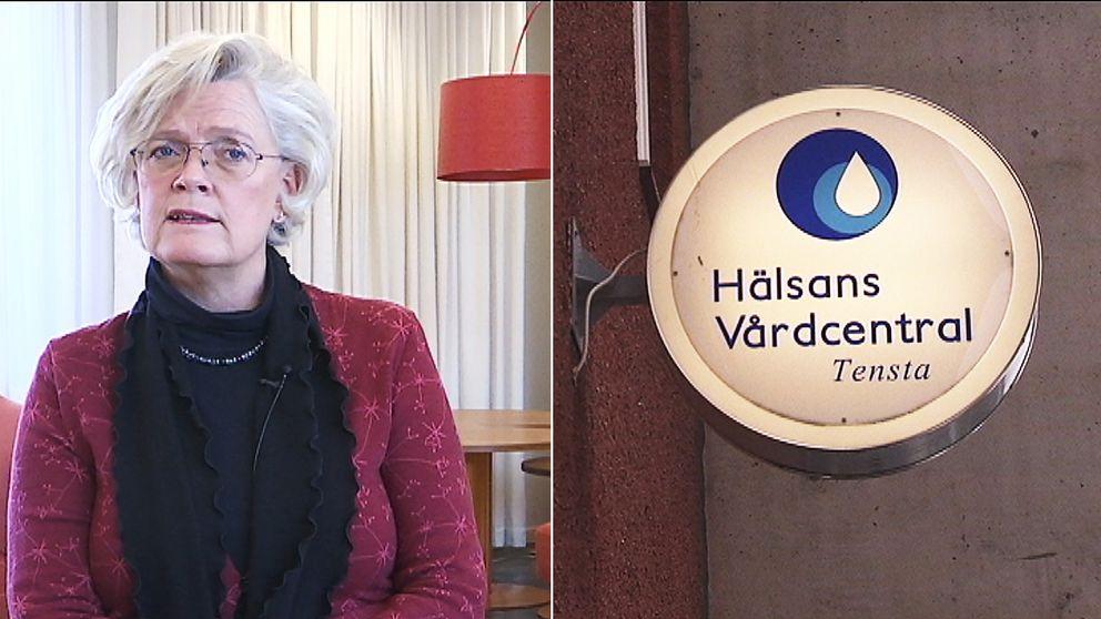Carola Lemne, vd för Svenskt Näringsliv/Hälsans vårdcentral i Tensta
