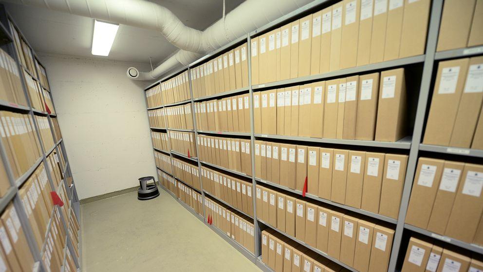 Ett arkivrum hos polisen. Arkivbild.