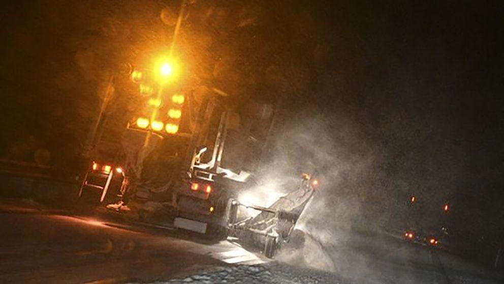 Lastbilsolyckor på hala svenska vägar