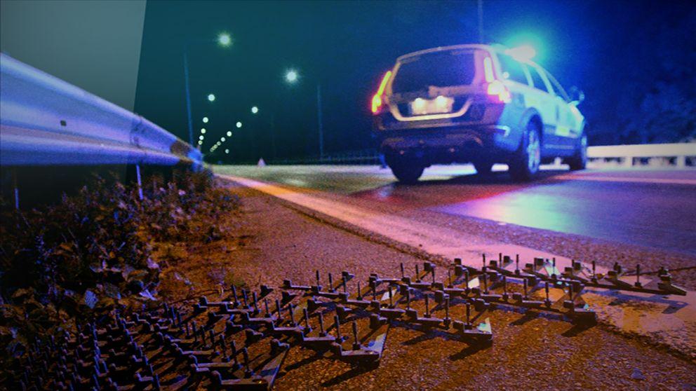 En spikmatta i Vänersborg satte stopp för biljakten genom Dalsland. Arkivbild