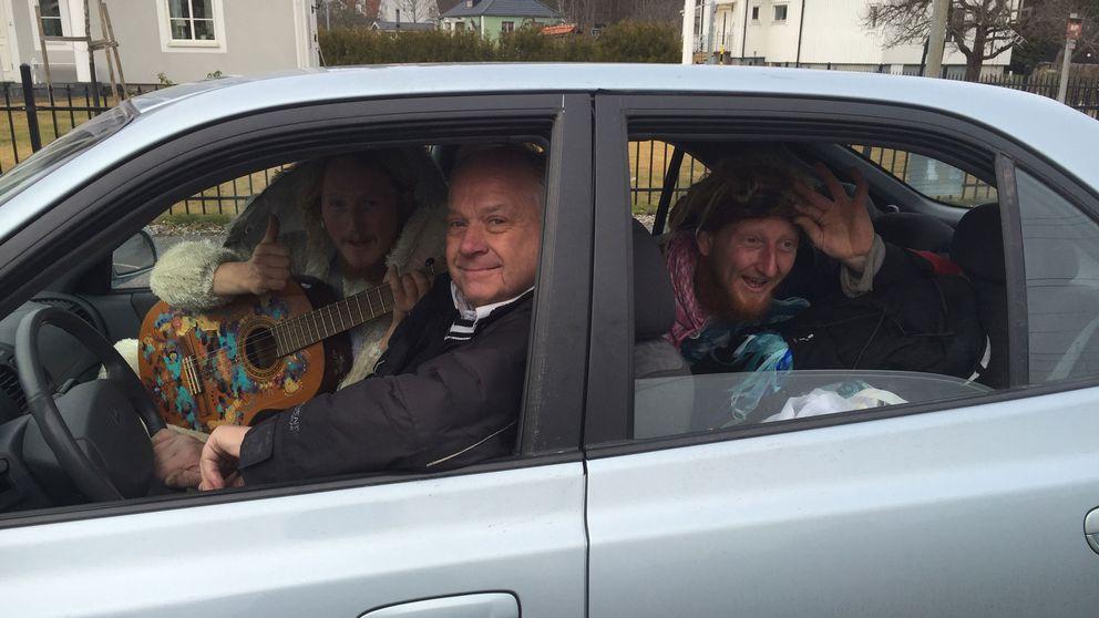 Liftarna Mathias Risberg och Tommie Gyllin tillsammans med Benny Skeppner.