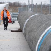Försvarsutskottet vill att regeringen skyndar på med ny lagstiftning efter Karlshamns beslut att hyra ut hamnen till Nord Stream 2. Arkivbild.