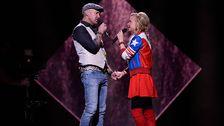 Juha Mualri och Sara Varga