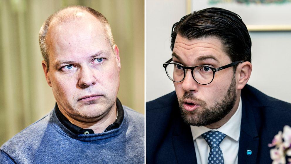 Morgan Johansson (S) kommenterar nu den debattartikel som bland annat Sverigedemokraternas Jimmie Åkesson partiledare skrivit i amerikanska tidningen Wall Street Journal-