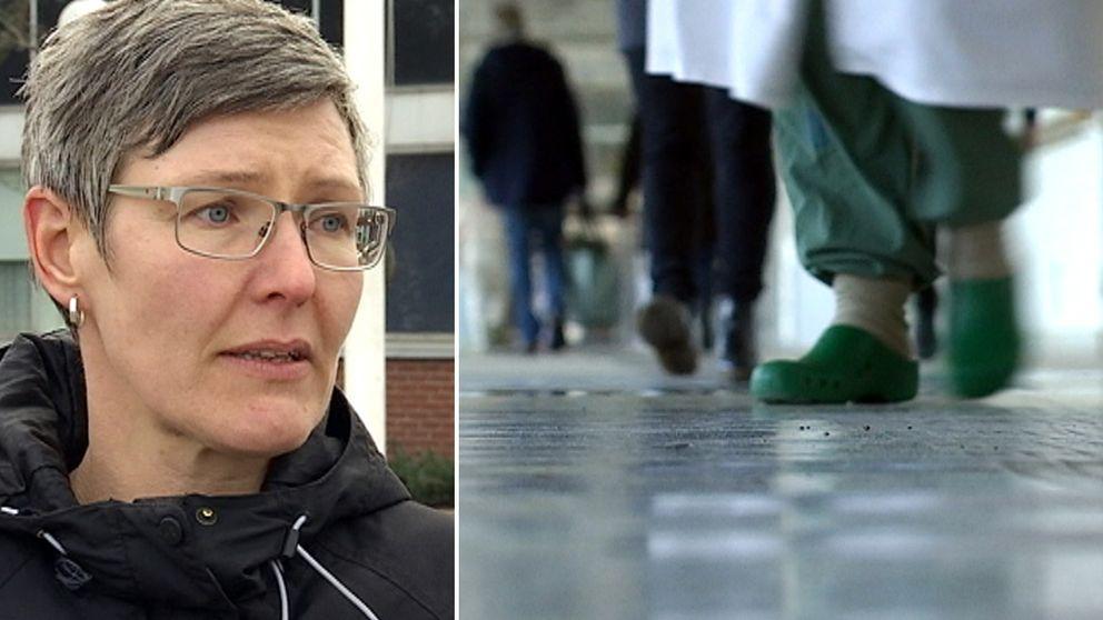 Åsa Svahn, huvudskyddsombud och samordnare för vårdförbundet på Hallands sjukhus.
