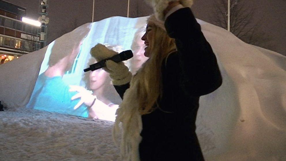 Snöbion i Skellefteå.