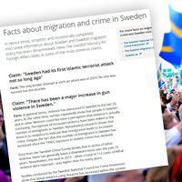 UD svarar på vanliga frågor om migration och brottlighet i Sverige på sin hemsida.