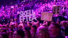 Publik under deltävling fyra i melodifestivalen 2017