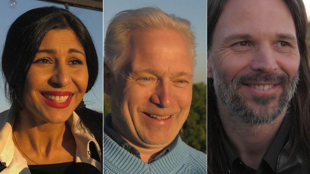 Bahar Pars, Hannes Holm och Linus Sandgren på plats i Hollywood inför kvällens gala.