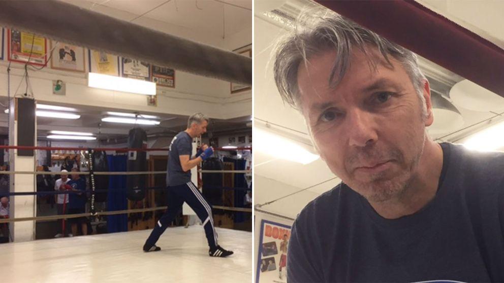 """För David har boxningen gjort stor skillnad: """"Jag har halverat min medicinering sedan jag började""""."""