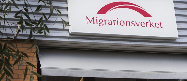 En fasadbild på Migrationsverkets kontor.