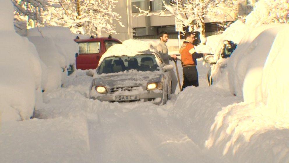 Snömassor i Reykjavik den 26 februari.