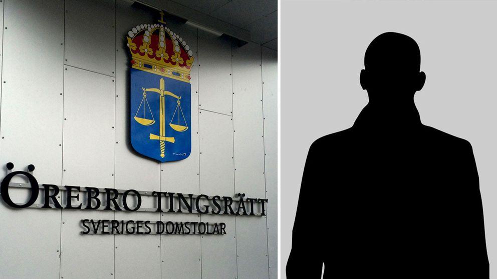 Örebro Tingsrätt och silhuett