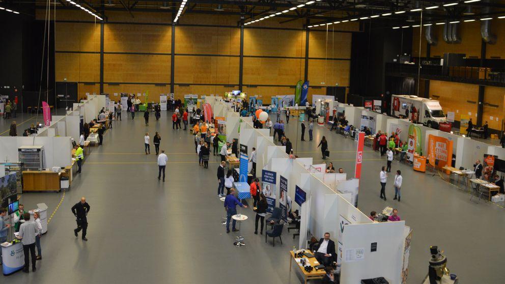 Över hundra arbetsgivare på plats på jobbmässan i Örebro