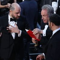 Bilder från när fel film läses upp på Oscarsgalan.