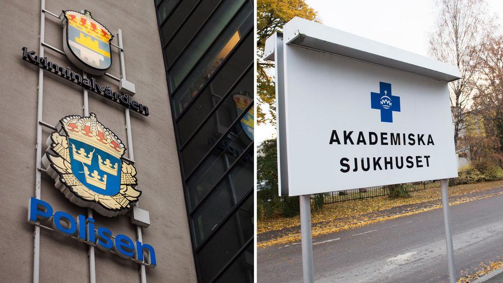 Akademiska sjukhuset ackis polis polishuset