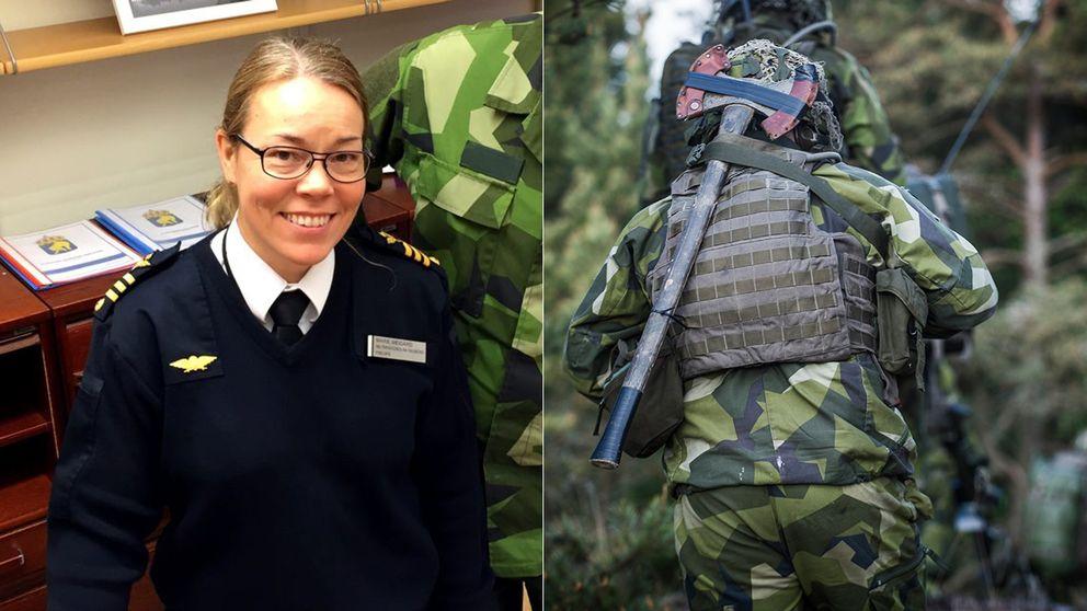 Marie Meigård har arbetat inom försvarsmakten i över 20 år.