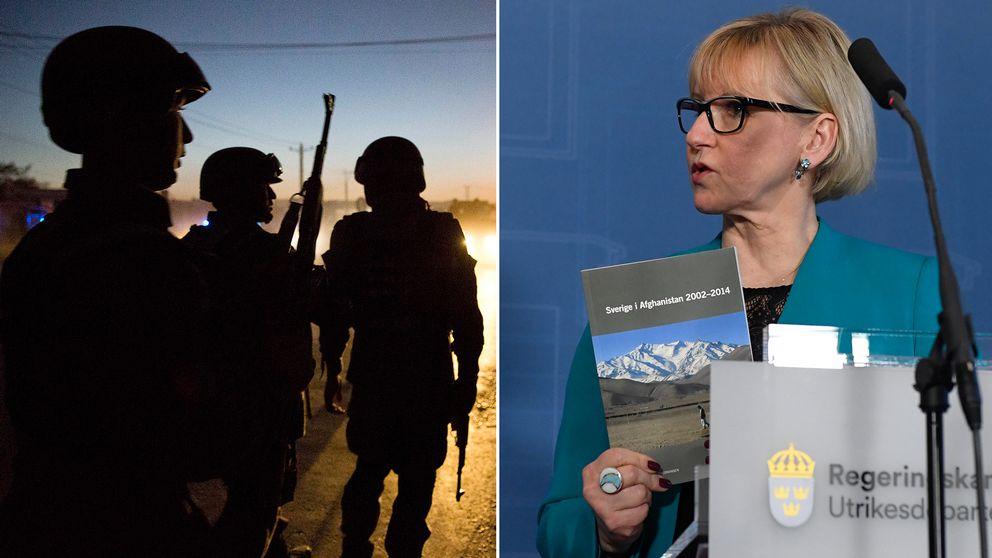 Pressträff i Rosenbad när utrikesminister Margot Wallström tog på torsdagen tog emot utredningen Sveriges samlade engagemang i Afghanistan under perioden 2002-2014.
