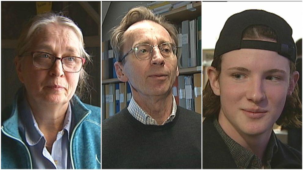 Kollage av tre personer från tidigare inslag om döda zoner.